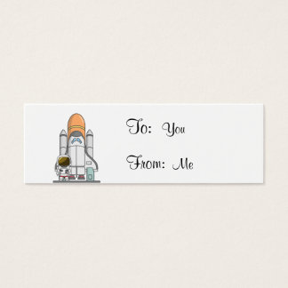 Little Astronaut & Spaceship Mini Business Card