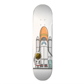 Little Astronaut & Spaceship Skate Board