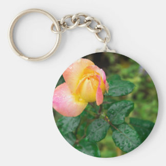 Little autumn rose with blur keychain