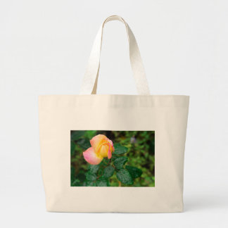Little autumn rose with blur large tote bag