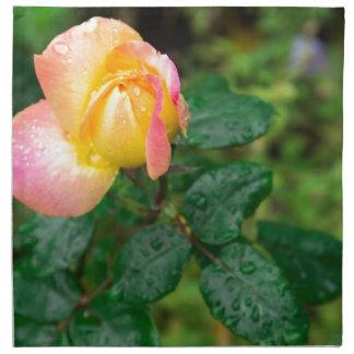 Little autumn rose with blur napkin