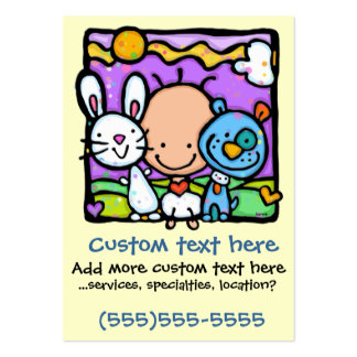 Little Baby and his/her Little Pets-Childcare card Business Cards