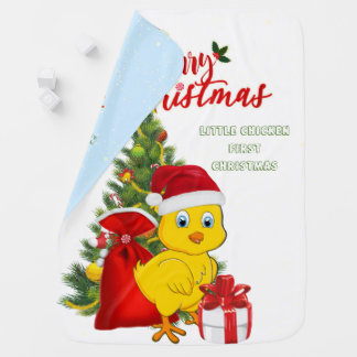 Little Baby Chicken Christmas Baby Blanket