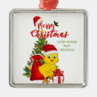 Little Baby Chicken Christmas Metal Ornament