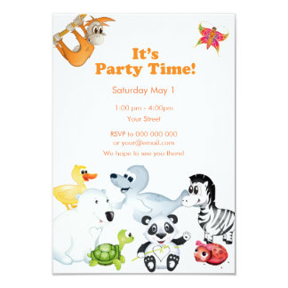 'Little Baby Love Seal' All Character Invitation