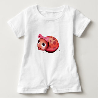 'Little Baby Love Seal' Ladybug Character Romper