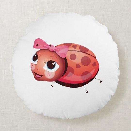 'Little Baby Love Seal' Ladybug Cushion