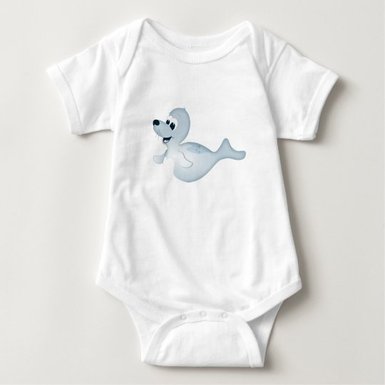 'Little Baby Love Seal' Seal Character Romper