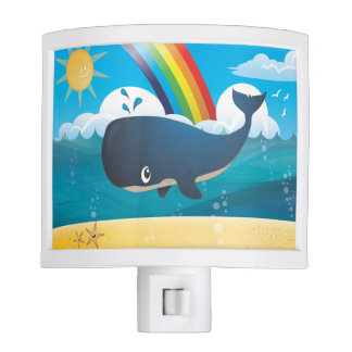 'Little Baby Love Seal' Whale Ocean Night Light