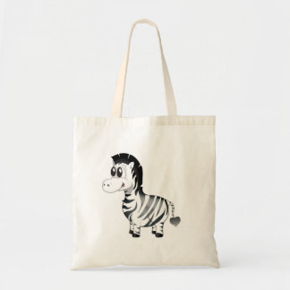 'Little Baby Love Seal' Zebra Character Tote bag