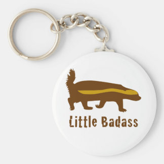 Little badass honey badger keychain