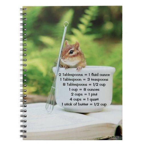 Little Baker Chipmunk with Measurements Notebook