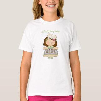 Little Baker Green Kids T-Shirt