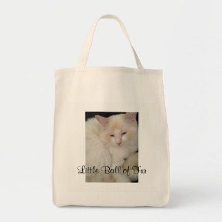 Little Ball of Fur Cat Tote Bag