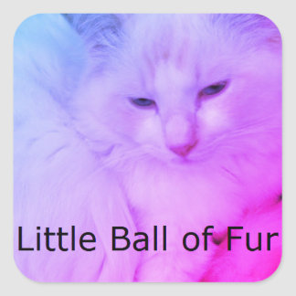 Little Ball of Fur Stickers