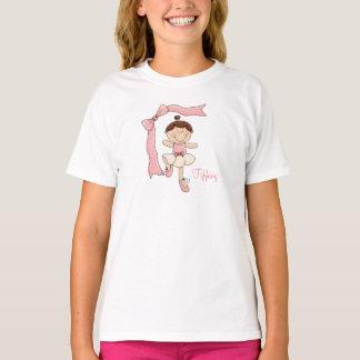 Little Ballerina (Brown Hair) Kids T-Shirt