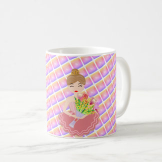 Little Ballerina, Bunch of Flower, I Love You! Coffee Mug