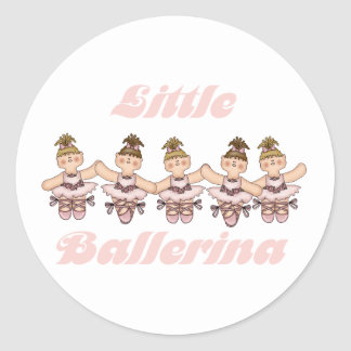 Little Ballerina   Classic Round Sticker