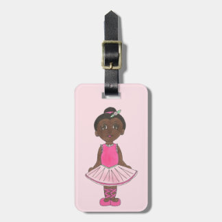 Little Ballerina Personalized Tutu Ballet Dancer Luggage Tag