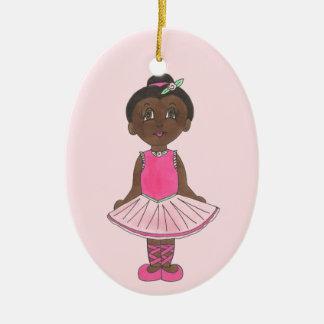 Little Ballerina Pink Tutu Toe Shoes Ballet Dance Ceramic Ornament