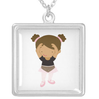 Little Ballerina Silver Plated Necklace