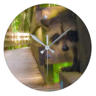 Little Bandit Florida Raccoon Clock