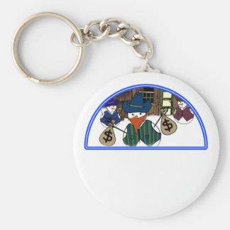 Little Bandit Snowman Cowboy Key Chain