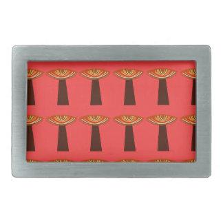 Little baobabs hand painted design rectangular belt buckles