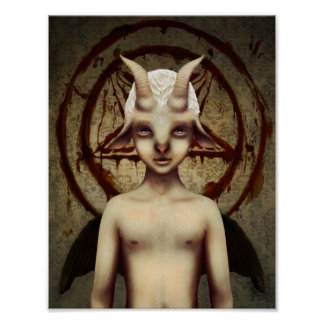 LITTLE BAPHOMET POSTER
