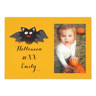 Little Bat Customized Halloween Photo Frame / Card