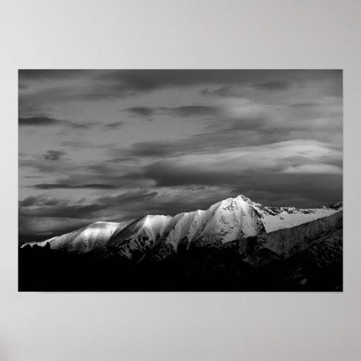 Little Bear Peak in Winter Poster