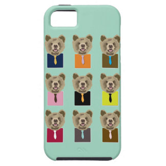 Little bear with tie iPhone 5 cover