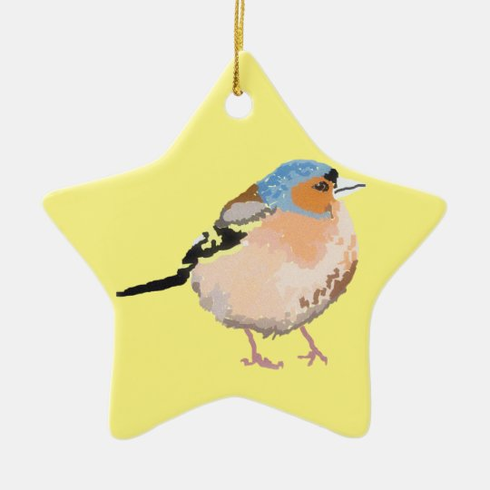 little bird ceramic ornament