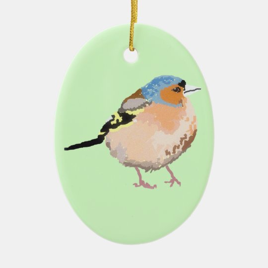 little bird ceramic ornament