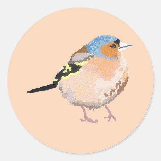 little bird classic round sticker