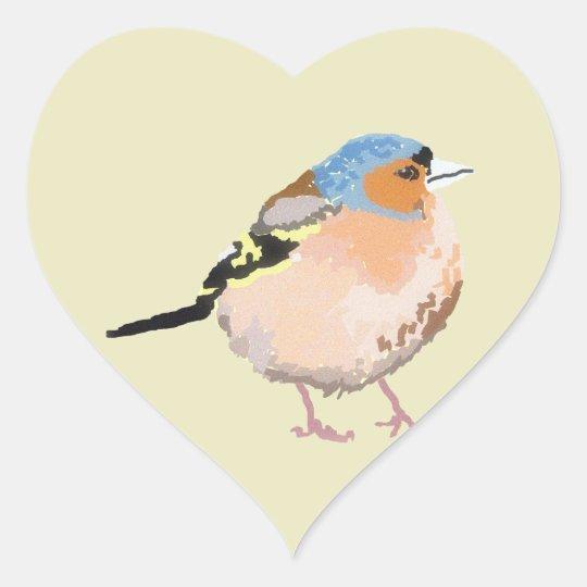 little bird heart sticker