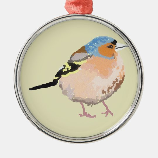 little bird metal ornament
