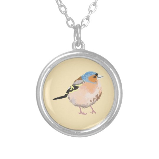 little bird silver plated necklace