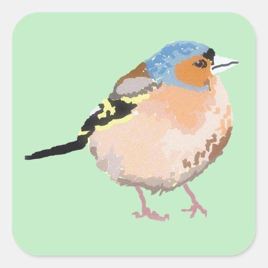little bird square sticker