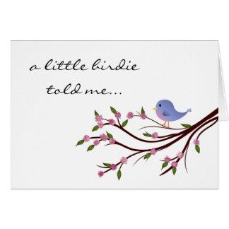 Little Birdie Birthday Card
