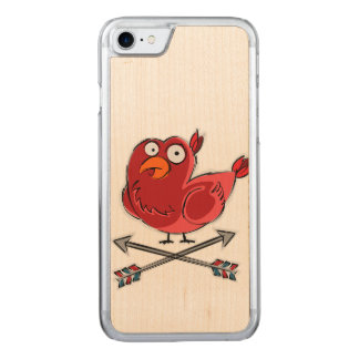 Little Birdie Illustration Carved iPhone 8/7 Case