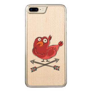 Little Birdie Illustration Carved iPhone 8 Plus/7 Plus Case