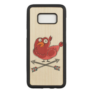 Little Birdie Illustration Carved Samsung Galaxy S8 Case