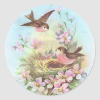 Little Birdies Classic Round Sticker