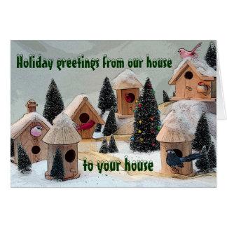 Little Birds Village holiday card