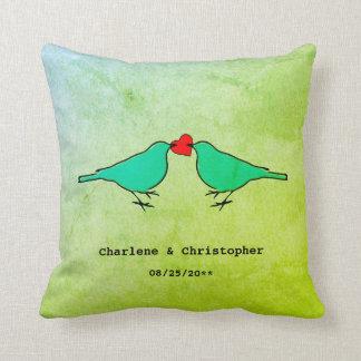Little Birds Wedding Throw Pillow