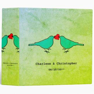 Little Birds Wedding Vinyl Binder