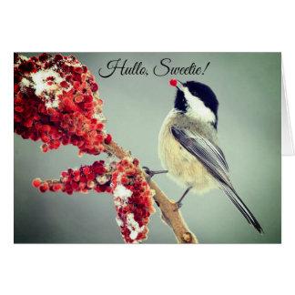 Little Birdy Christmas Card