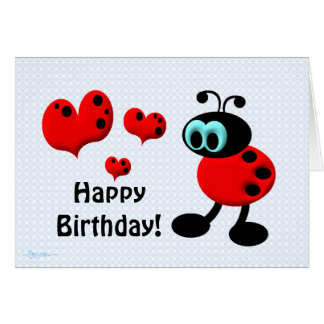 Little Birthday Love Bug Greeting Card