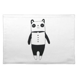 Little black and white panda placemat